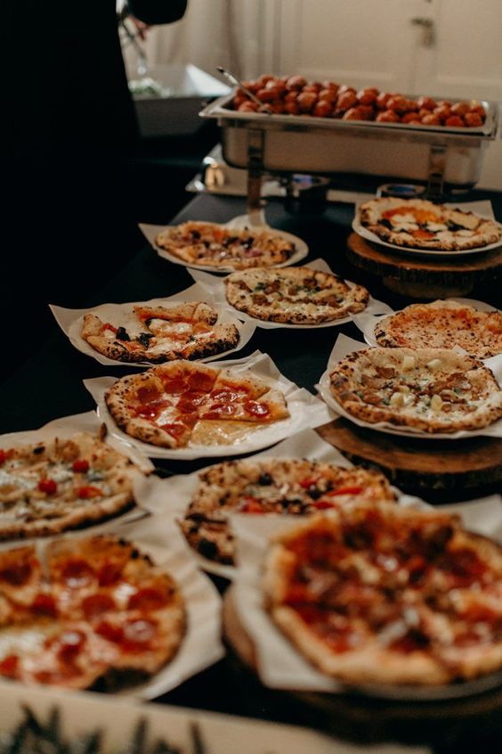 a mini pizza bar is a timeless idea for absolutely any wedding - serve many tastes and all the guests will be happy