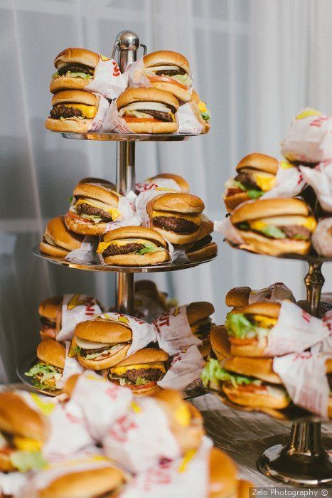 a wedding buger bar is a timeless and casual idea for a modern wedding