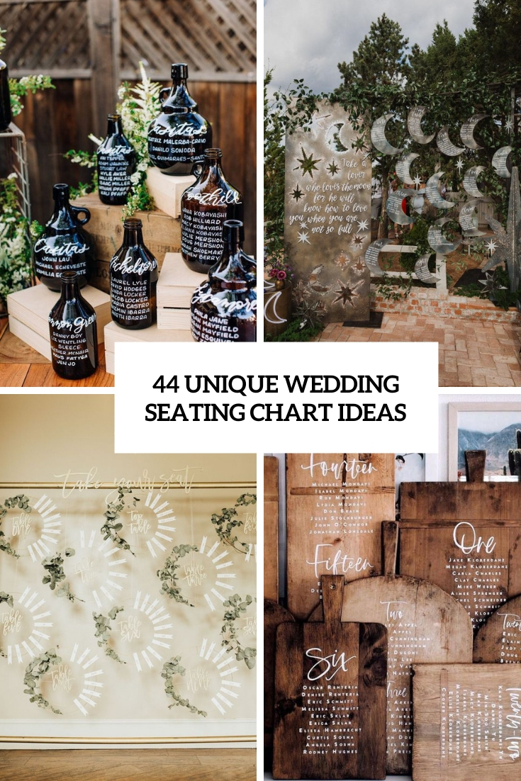 44 Unique Wedding Seating Chart Ideas