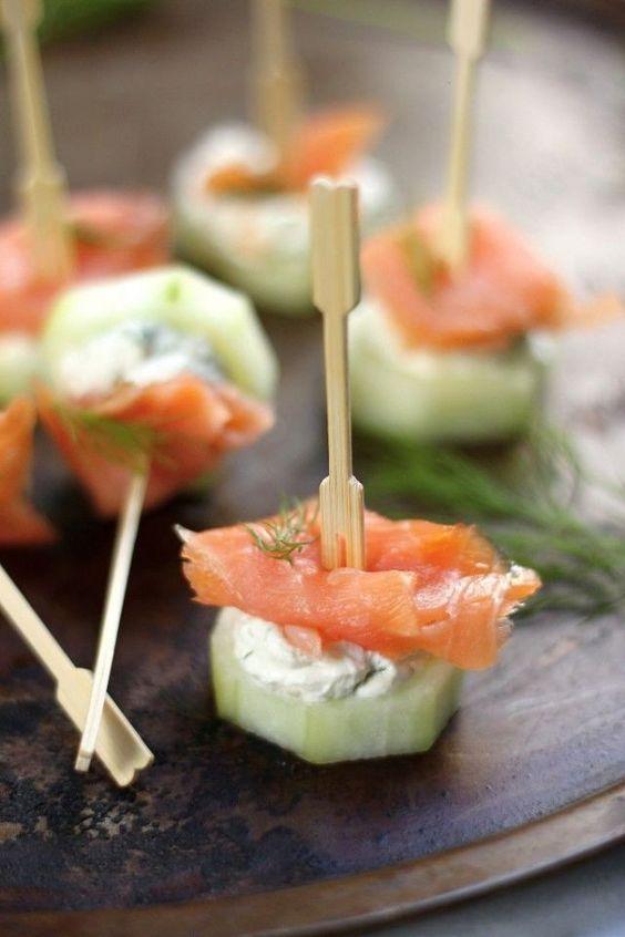 smoked salmon pairs beautifully with horseradish and dill cream cheese, it's very refreshing