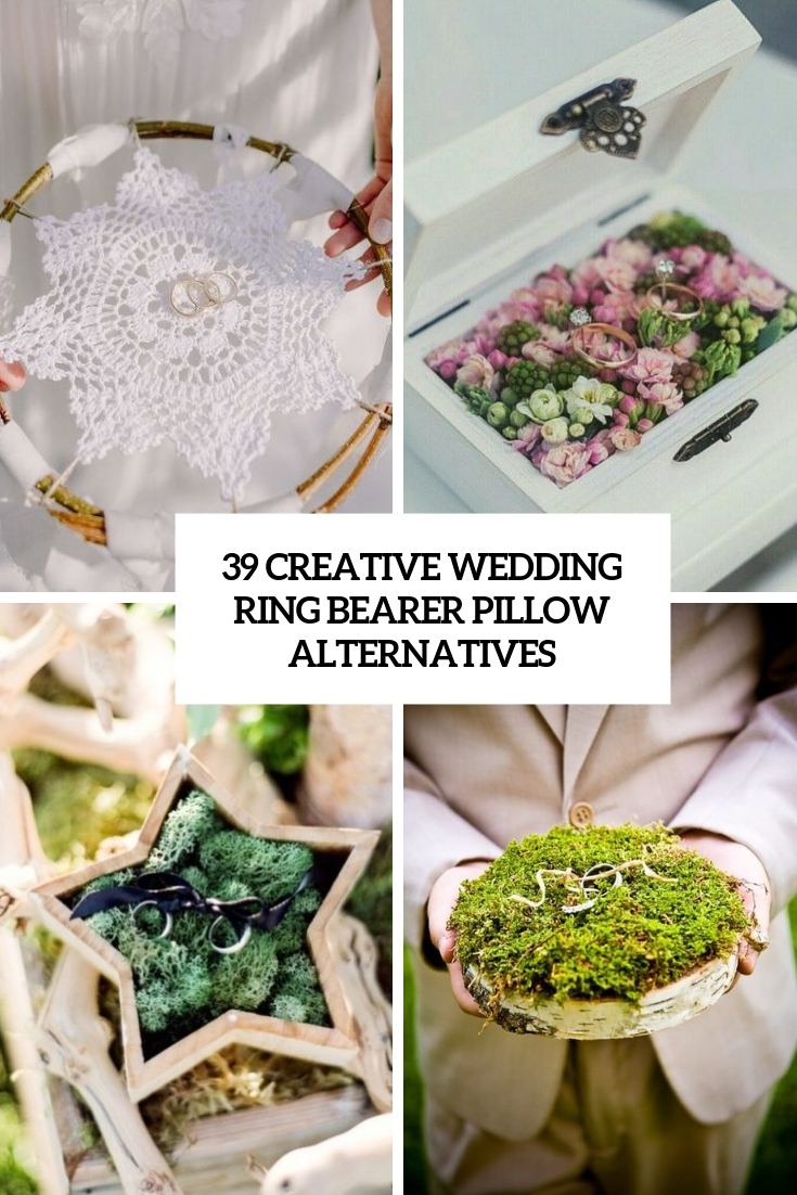 39 Creative Wedding Ring Bearer Pillow Alternatives