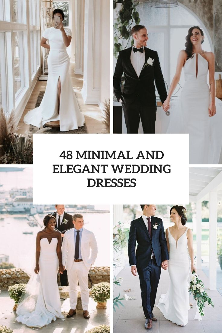 minimal and elegant wedding dresses cover