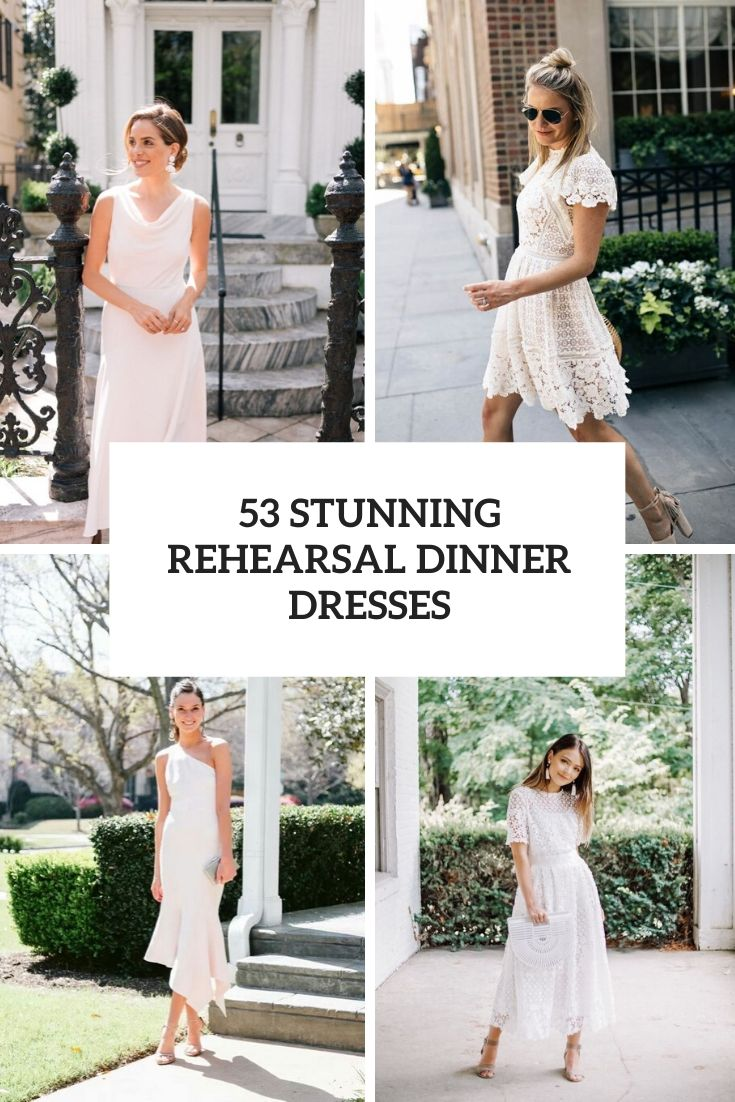 stunning rehearsal dinner dresses cover