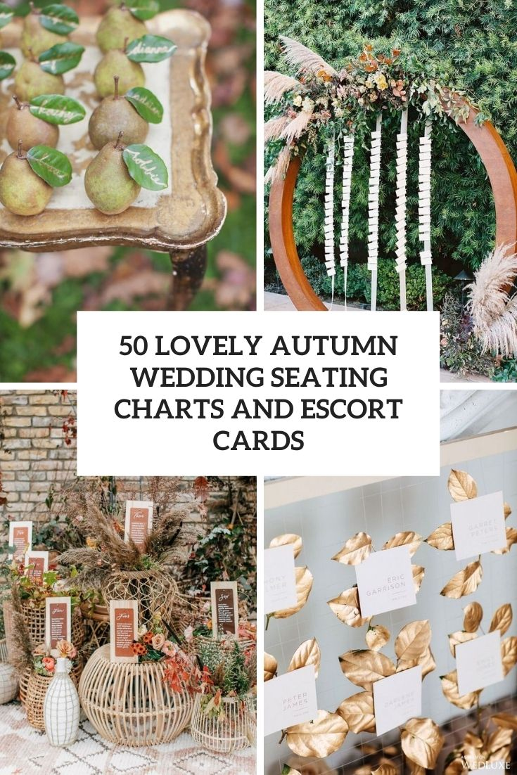 lovely autumn weddign seating charts and escort cards cover