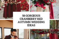 58 gorgeous cranberry red autumn wedding ideas cover
