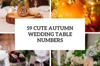 59 cute autumn wedding table numbers cover