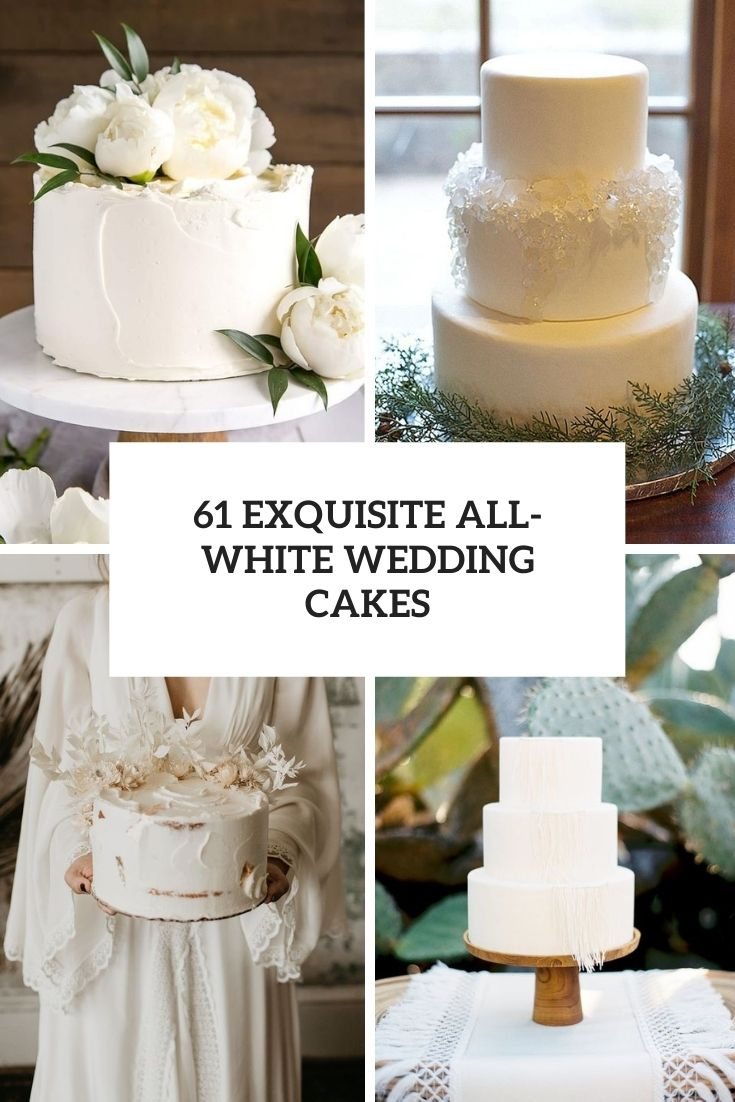 exquisite all white wedding cakes cover