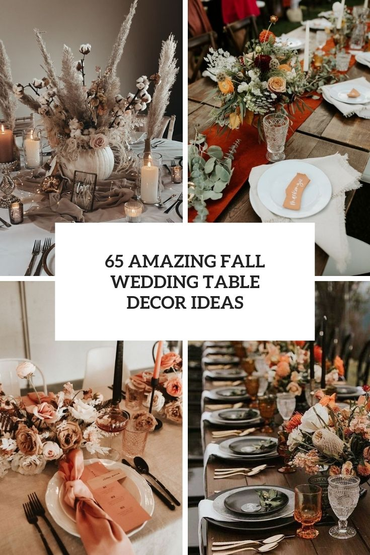 amazing fall wedding table decor ideas cover