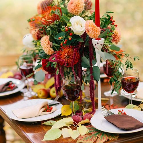 Outdoor Fall Wedding Decorations Ideas: 61 Awesome Outdoor Décor Fall Wedding Ideas