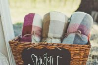 offer your guests some blankets to cozy them up and they will be happy if the day is a bit chilly