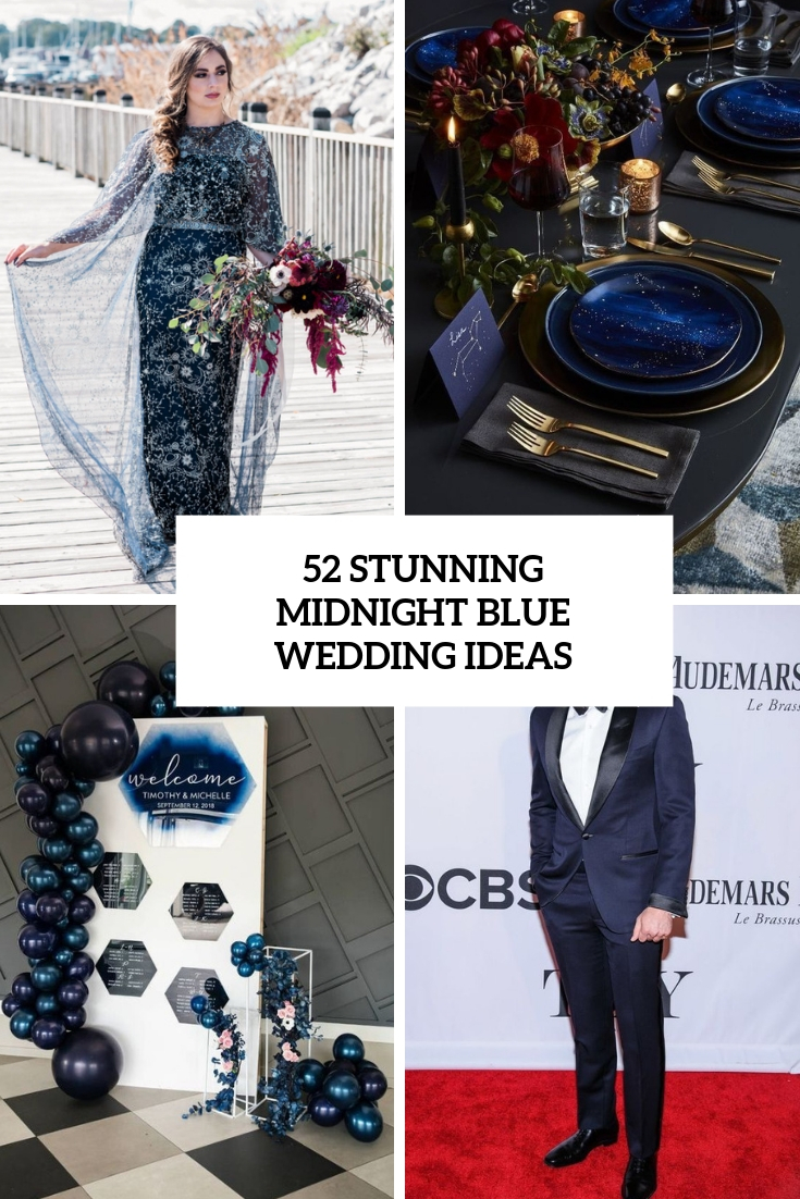 stunning midnight blue wedding ideas cover