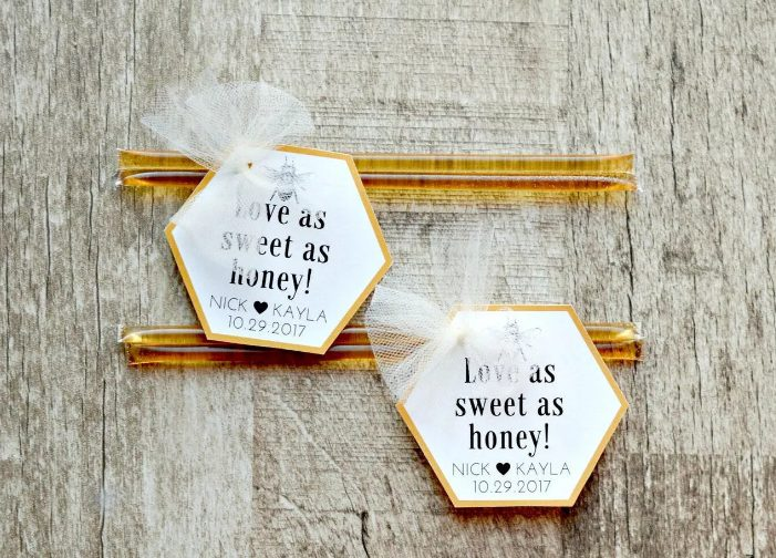 honey sticks are one more delicious fall sweet snack idea, they are budget-friendly and will be amazing for both a very relaxed and rustic and a more formal affair