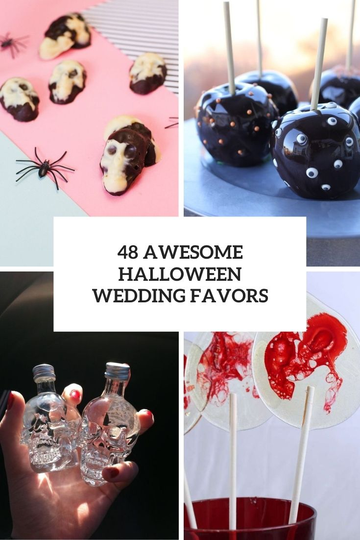 48 Awesome Halloween Wedding Favors