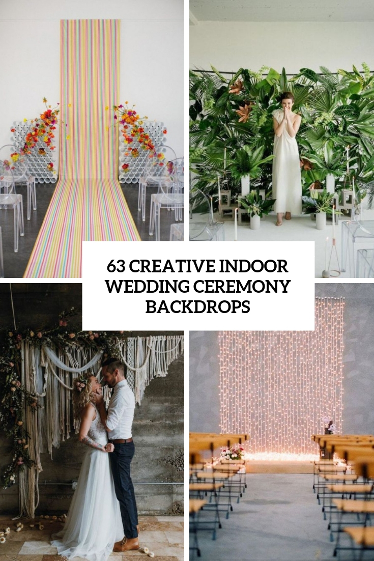 creative indoor wedding ceremony backdrops cover
