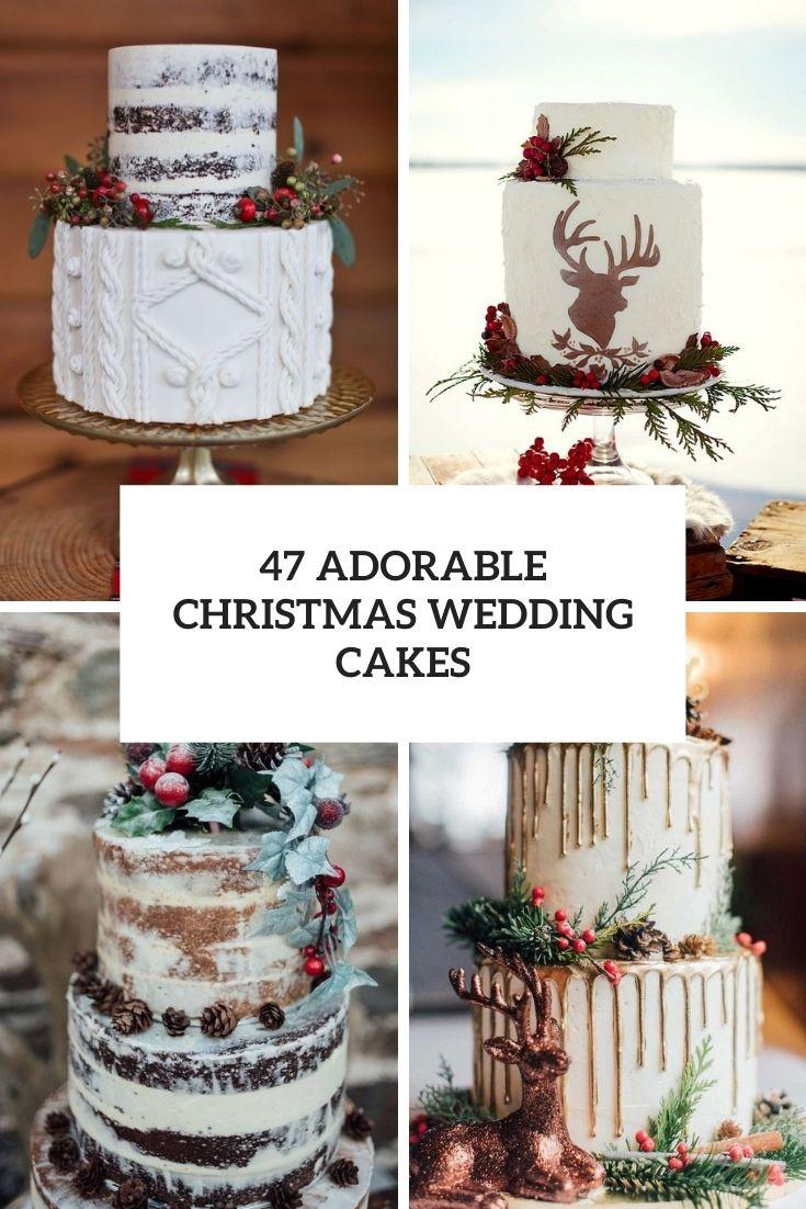 adorable christmas wedding cakes cover