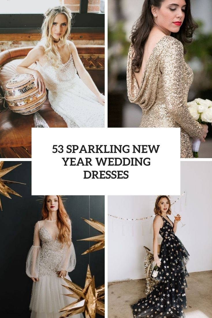 sparkling new year wedding dresses cover