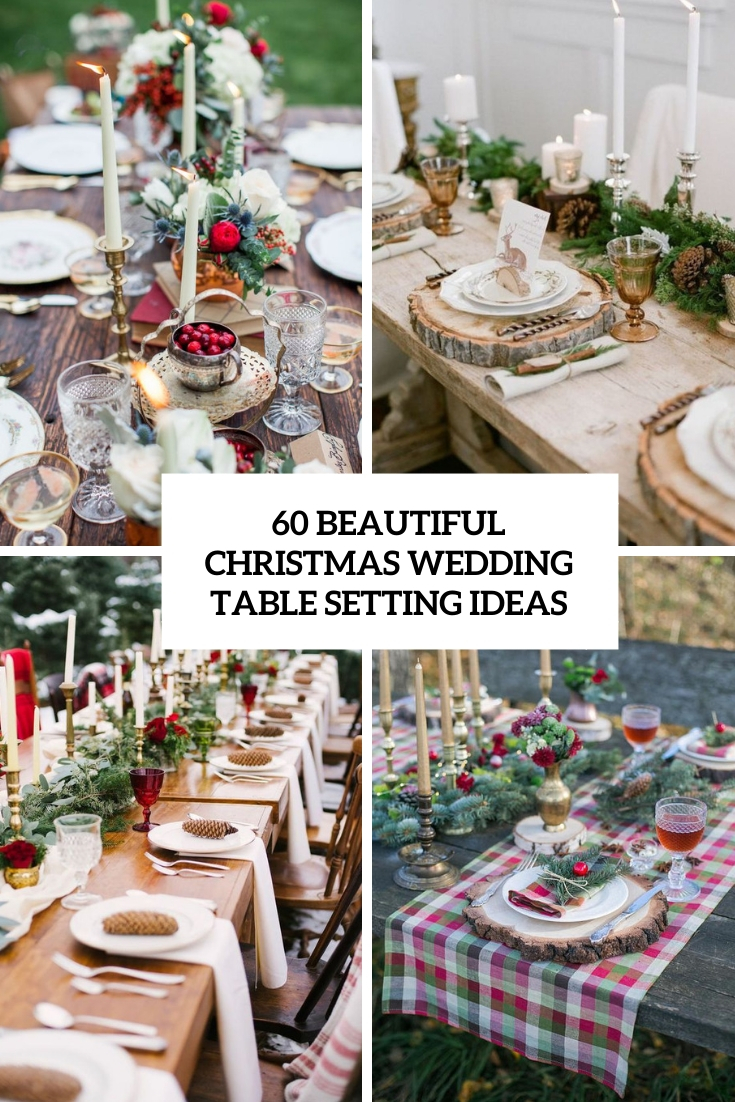 beautiful christmas wedding table setting ideas cover
