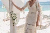 a boho wedding dresses for a beach wedding