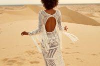 a cool boho mermaid wedding dress