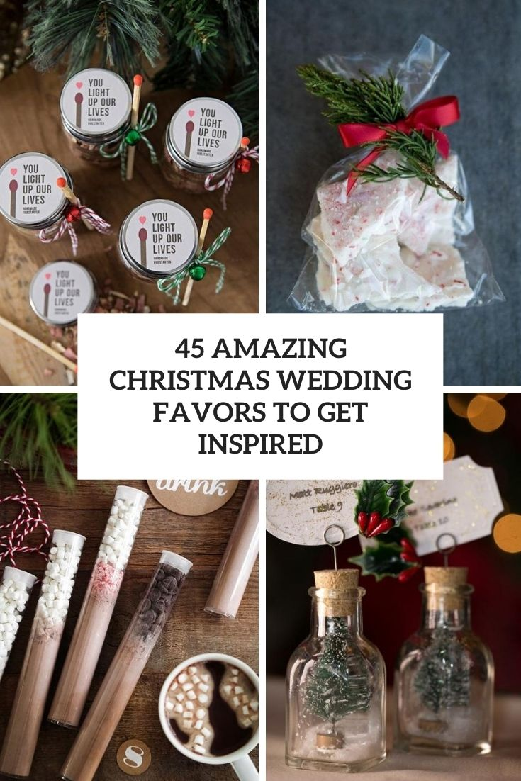 45 Amazing Christmas Wedding Favors To Get Inspired