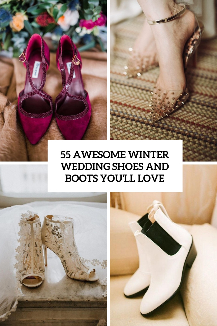 55 Awesome Winter Wedding Shoes And Boots You'll Love