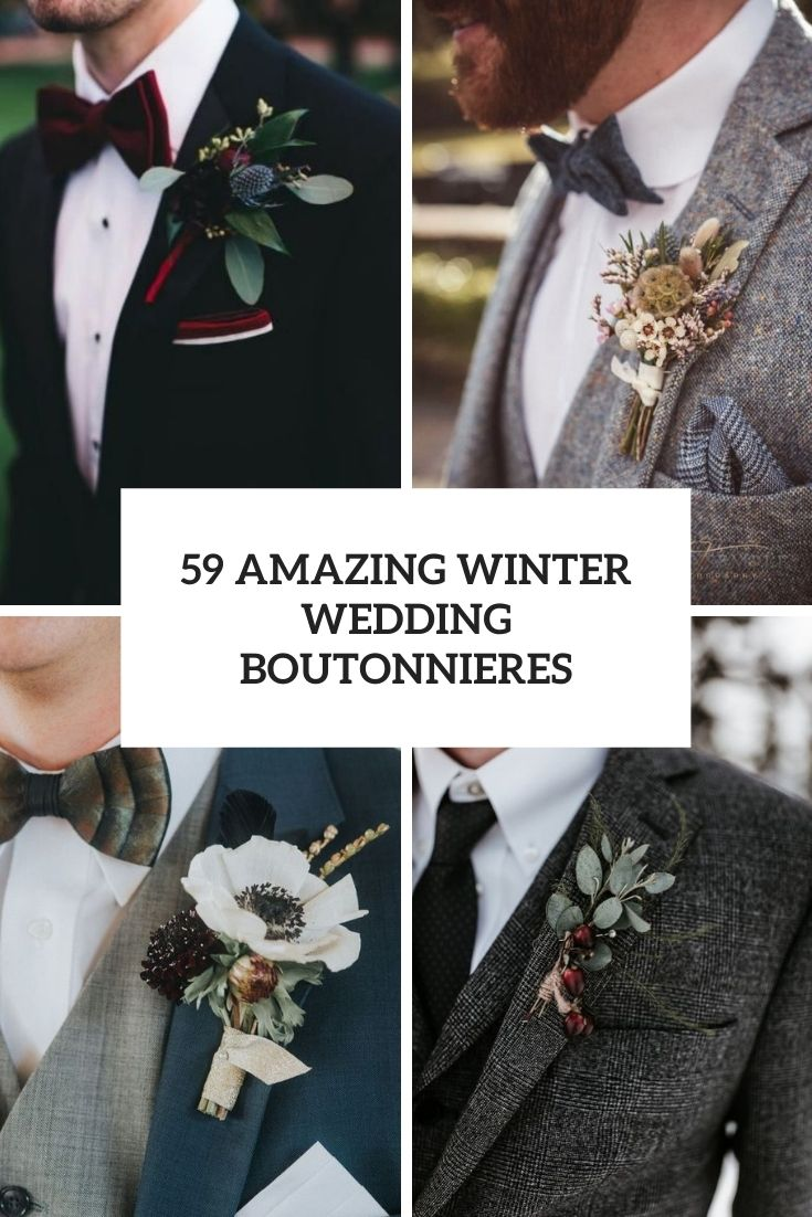 amazing winter wedding boutonnieres cover