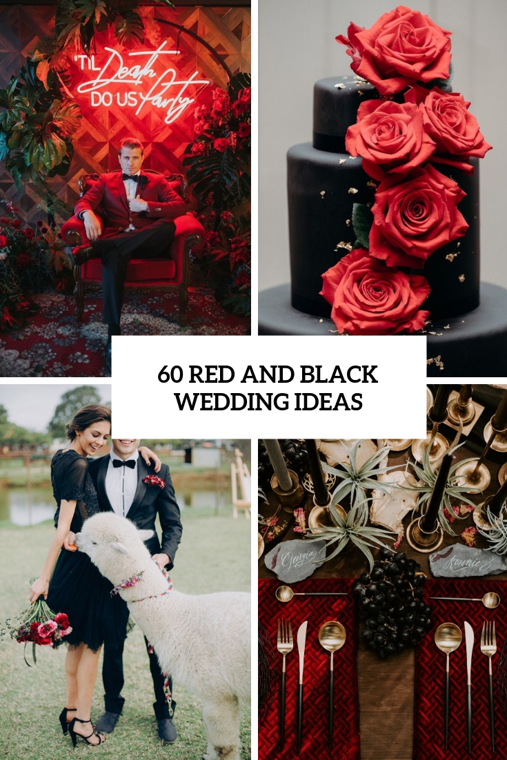 60 red and black wedding ideas - weddingomania