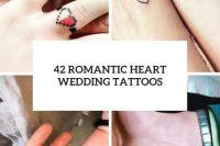 42 romantic heart wedding tattoos cover