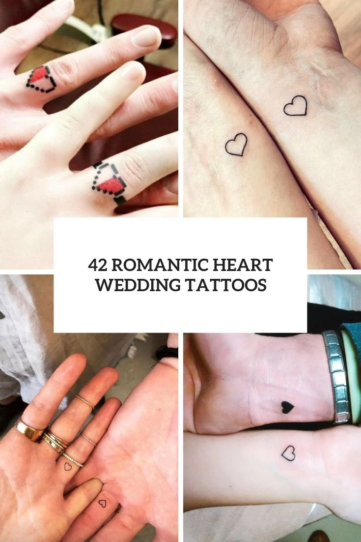 42 Romantic Heart Wedding Tattoos