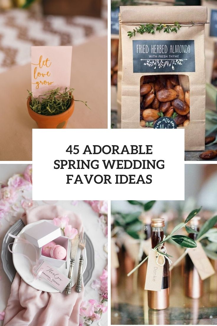 adorable spring wedding favors ideas cover
