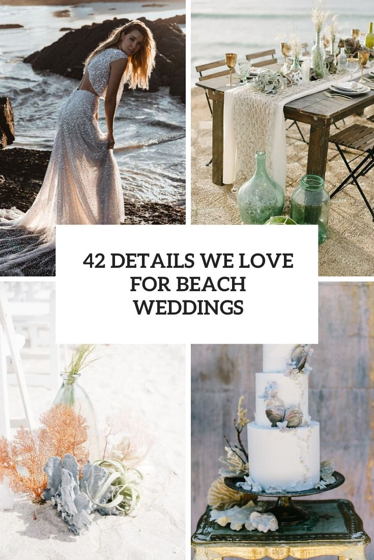 details we love for beach weddings cover