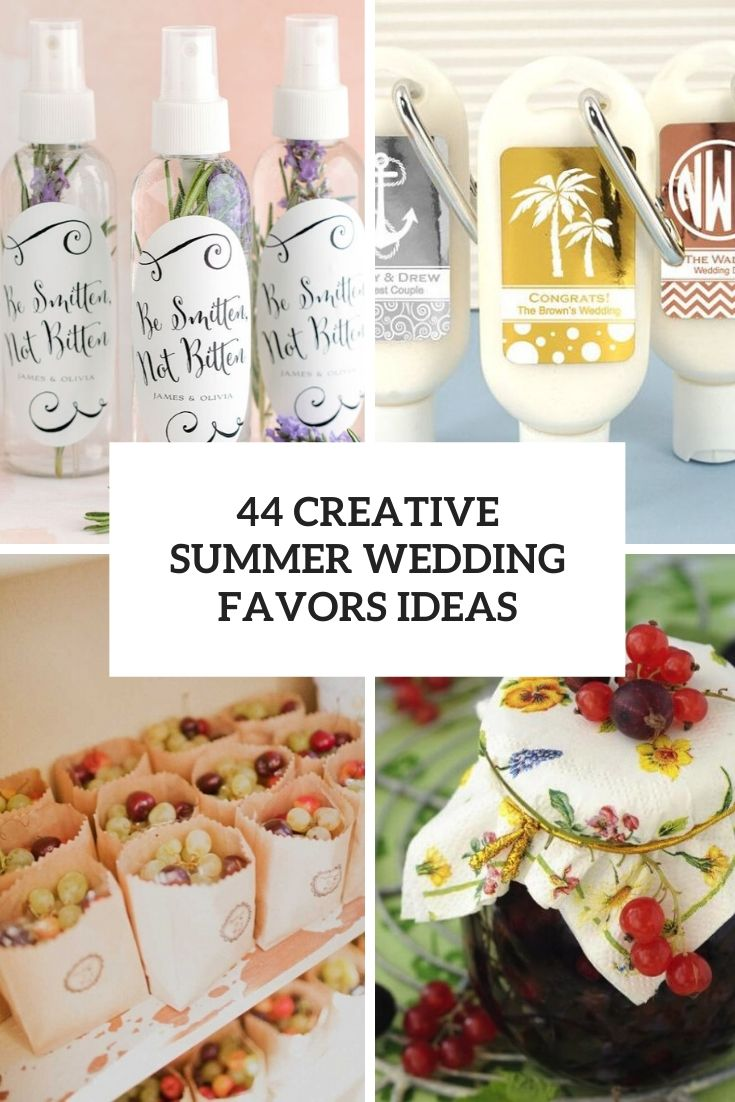 44 Creative Summer Wedding Favors Ideas