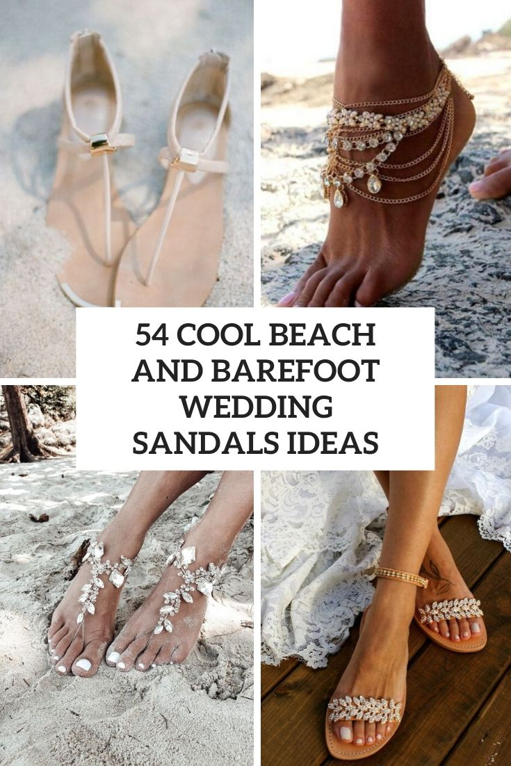 cool beach and barefoot wedding sandals ideas cover