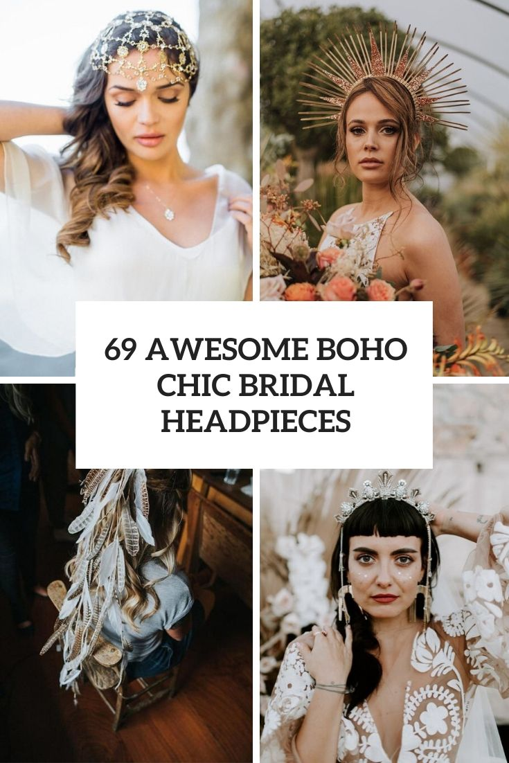 69 Awesome Boho Chic Bridal Headpieces