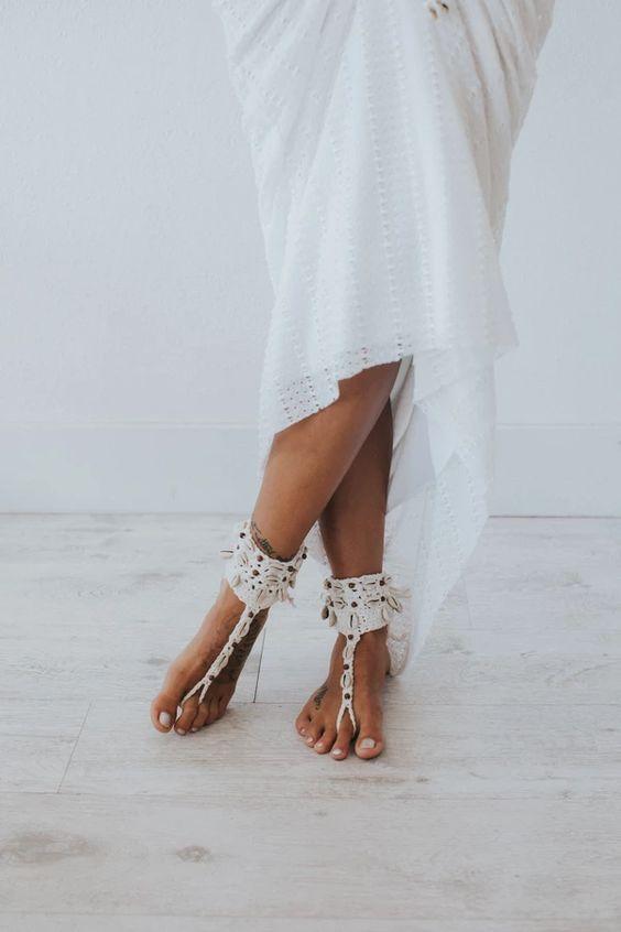 54 Cool Beach And Barefoot Wedding Sandals Ideas Weddingomania,Casual Designer Wedding Dresses