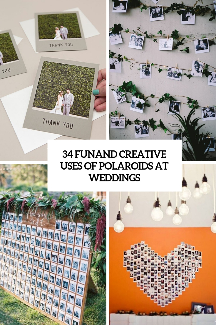 fun and creative uses of polaroids at weddings cover
