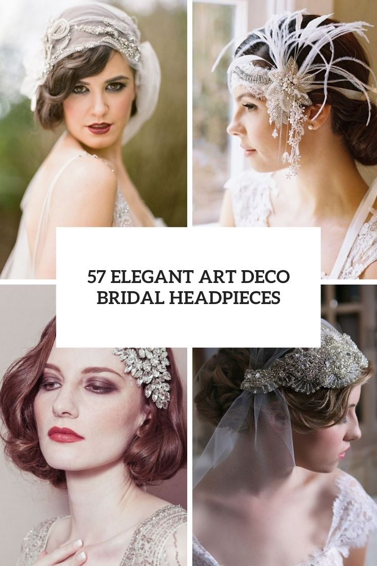 57 Elegant Art Deco Bridal Headpieces