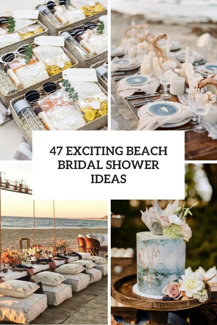 exciting beach bridal shower ideas cover