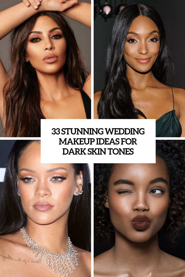 stunning wedding makeup ideas for dark skin tones cover