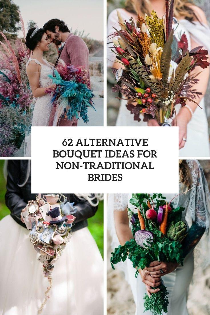 alternative bouquet ideas for non traditional brides cover