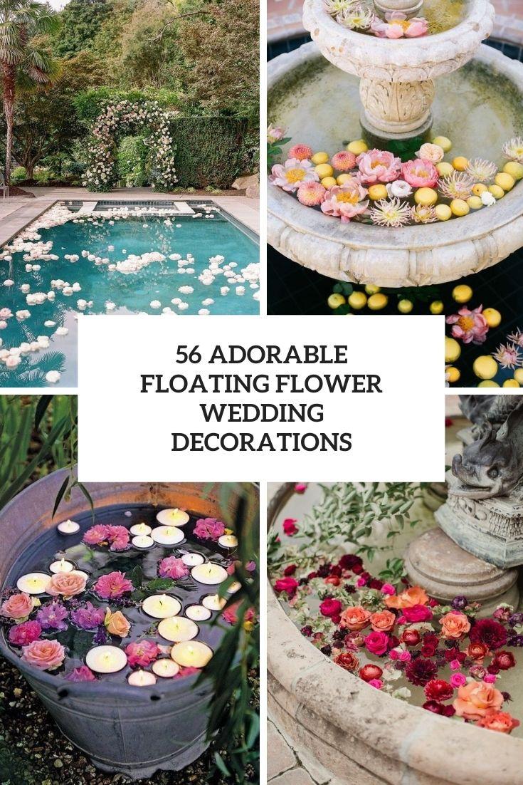 56 Adorable Floating Flower Wedding Decorations