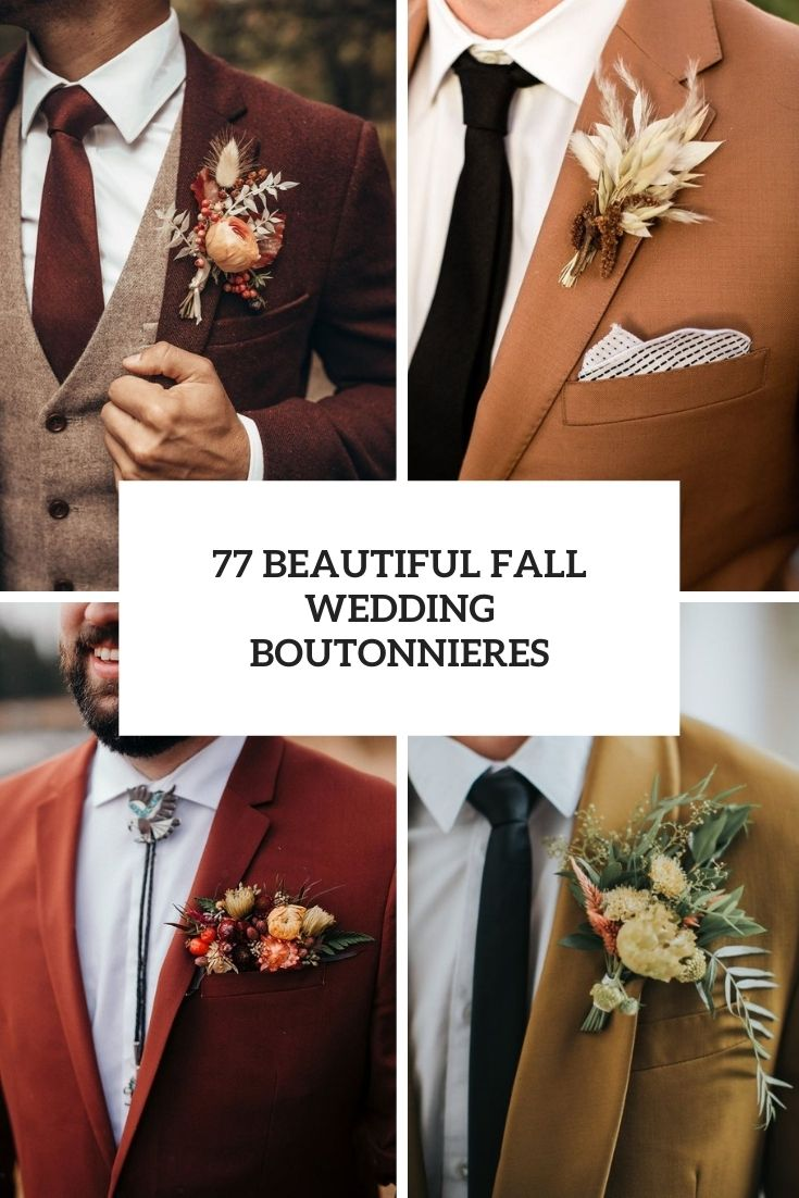 beautiful fall wedding boutonnieres cover