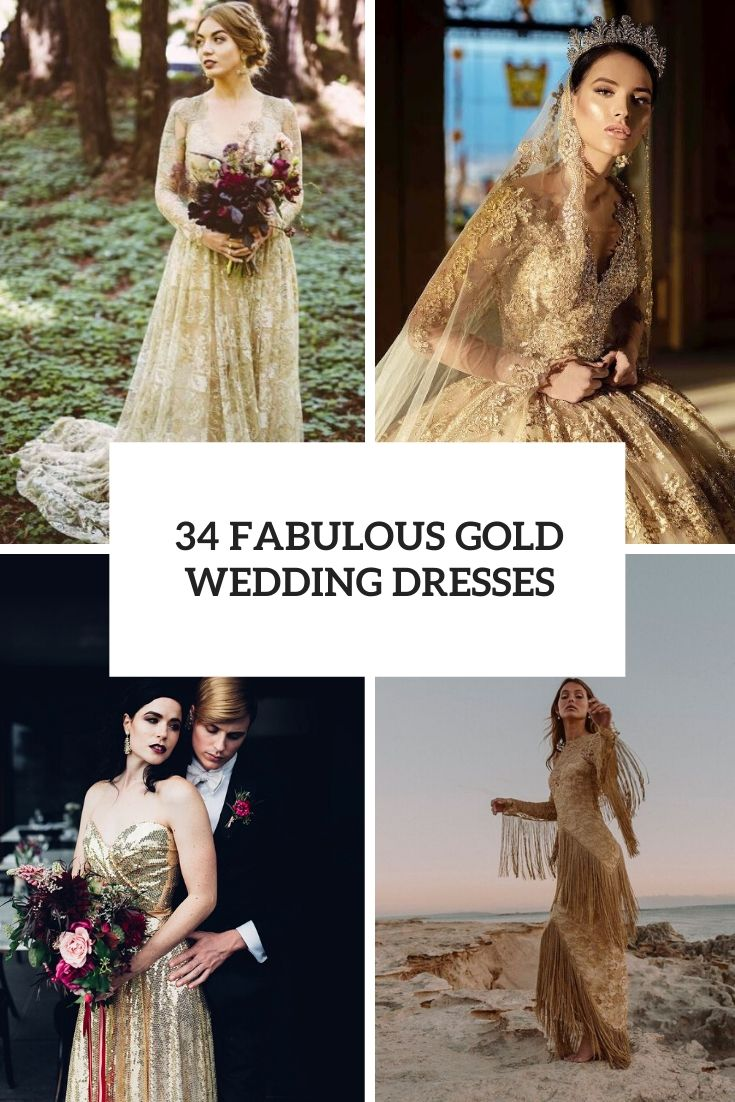 fabulous gold wedding dresses cover