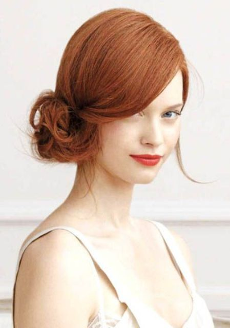 a cute side messy updo with a volume on top is a chic hairstyle that you can DIY