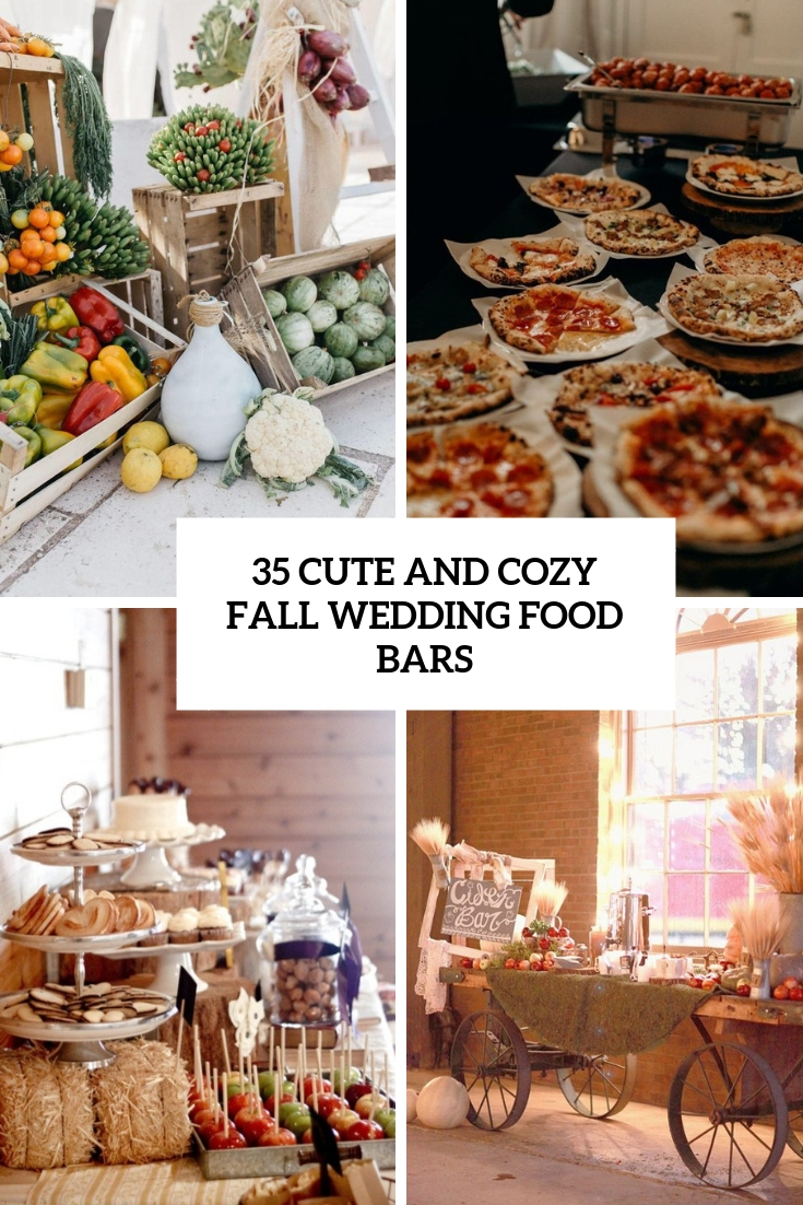 cute and cozy fall wedding food bars cover
