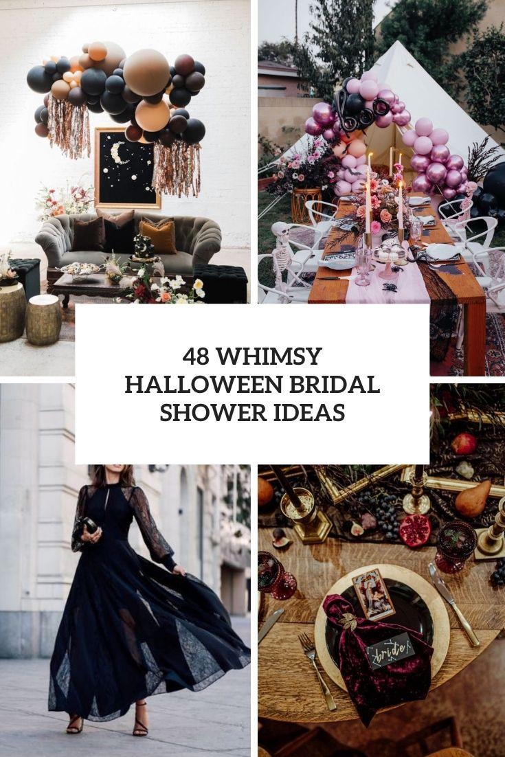 48 Whimsy Halloween Bridal Shower Ideas