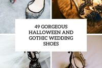 49 gorgeous halloween and gothic wedding shoes cover