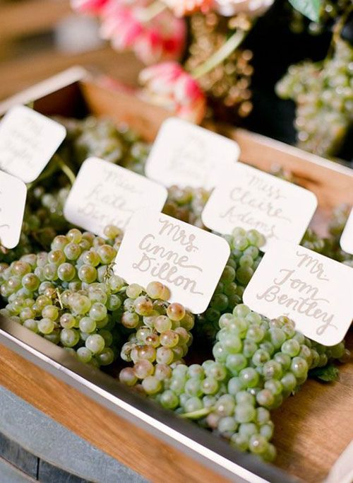 offer fresh grapes as wedding favors for your Tuscany wedding guests