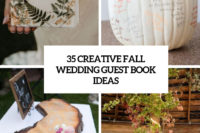 35 creative fall wedding guest book ideas cover