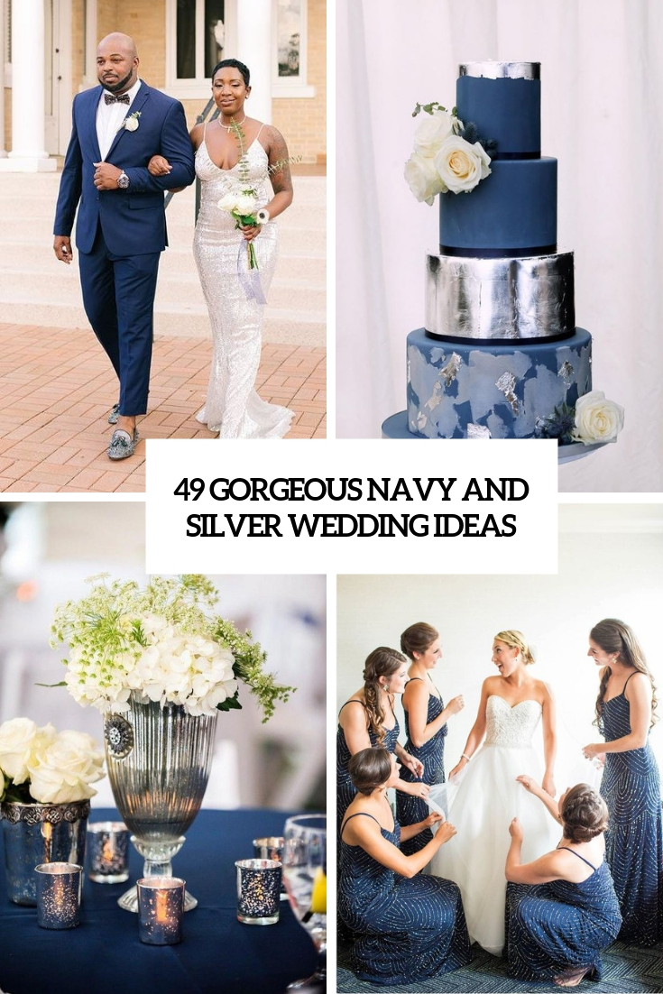 gorgeous navy and silver wedding ideas cover